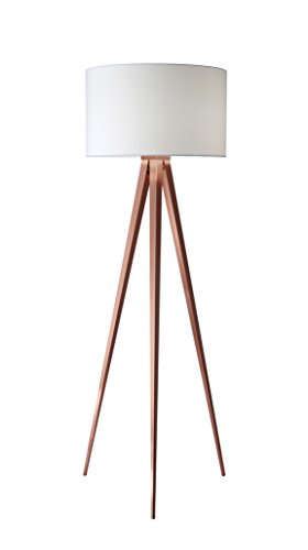 Adesso 6424-20 Director 60.25″ Floor Lamp, Brushed Copper