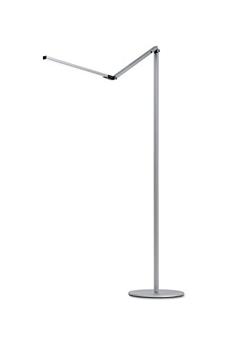Koncept AR5000-W-SIL-FLR Z-Bar LED Floor Lamp , Warm Light, Silver