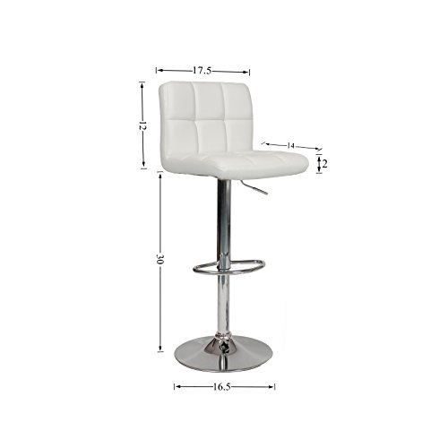 Roundhill Swivel Pu Leather Adjustable Hydraulic Bar Stool