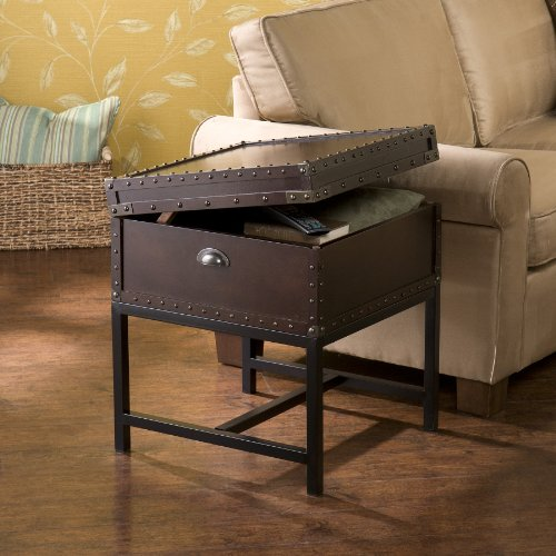 Dontos Industrial Kitchen Cart Southern Enterprises: Southern Enterprises Voyager Storage Side End Table