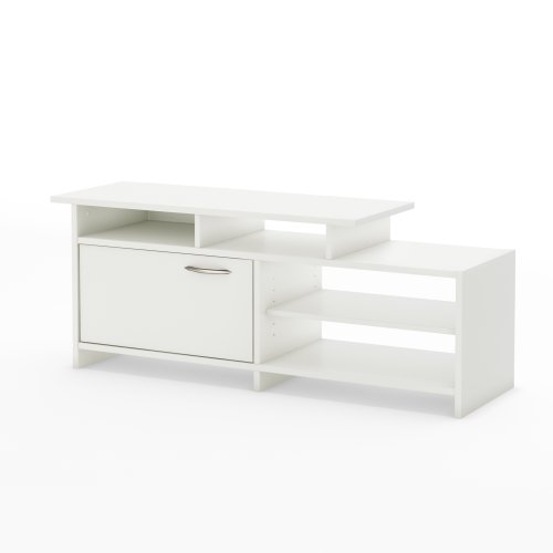 "Step One – TV Stand – Fits TVs Up To 42"" – Pure White – by South Shore"