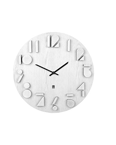 Umbra Shadow Wall Clock, White