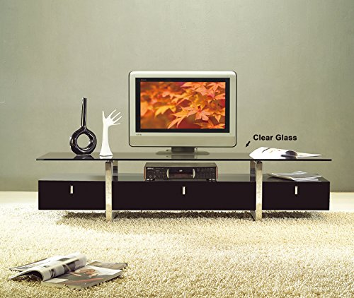 At Home SKUTV70104 Lumina White TV Stand