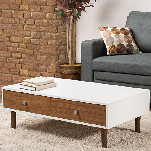 Baxton Studio Gemini Wood Contemporary Coffee Table, White