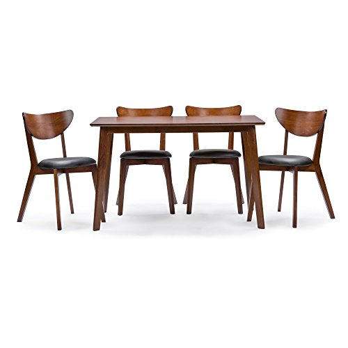 Baxton Studio Sumner 5 Piece Rectangular Dining Table Set