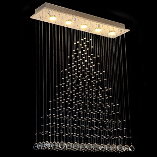 Ella Fashion Modern Gergours Chandelier Rain Drop Lighting