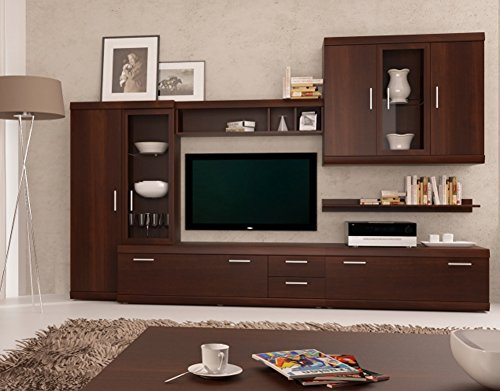 Imperial Entertainment Center – Modern Wall Units / Capacity Storage Entertainment Center / Living Room Design Furniture