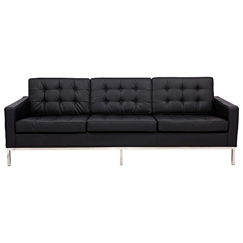 Leisuremod Florence Style Mid Century Modern Tufted Sofa