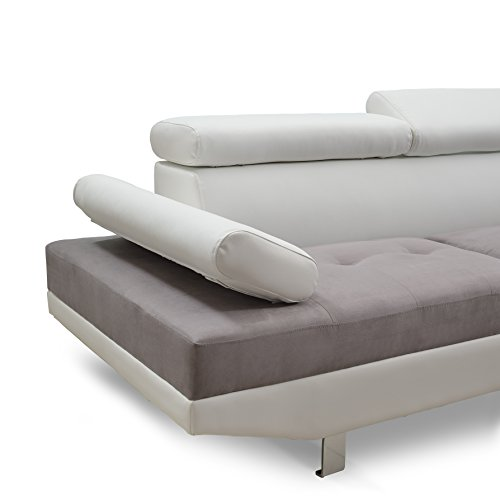 Modern Contemporary Designed Two Tone Microfiber And