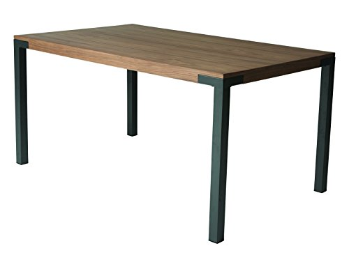 Impacterra QLAA5124136069 Amrita Rectangular Dining Table, Matte Gray