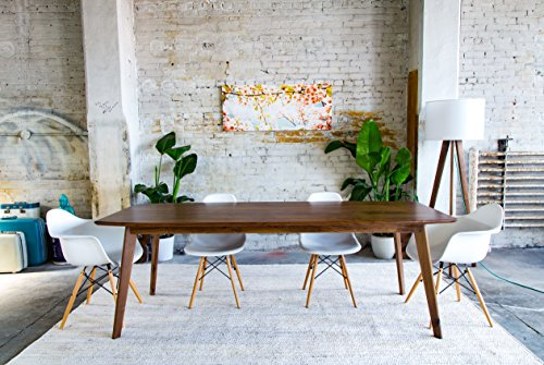 "Solid Walnut Midcentury Modern Dining Table, ""The Santa Monica"""