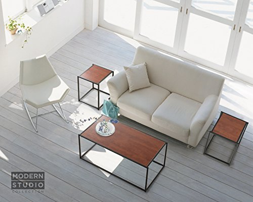 Zinus Modern Studio Collection 3 PC SET of a Classic Rectangular Coffee Table and 2 Classic Cube Side/End Tables